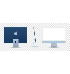 Newly released imac 2021 blue color vector