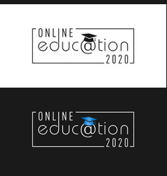online education 2020 vector image