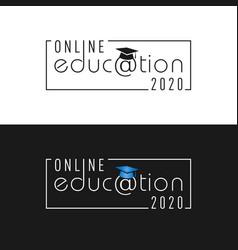 Online education 2020 vector
