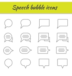 Outline icons set Speech bubbles vector