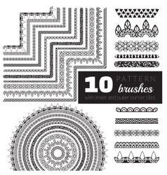 Pattern brush set vector
