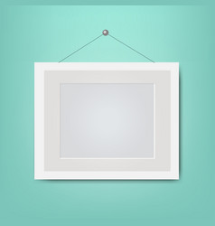 picture frame isolated mint background vector image