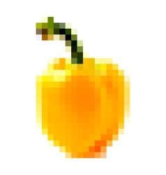 Pixel yellow bell pepper vector