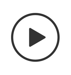 play video button icon vector image
