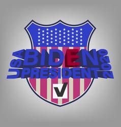 poster 3d lettering usa biden president 2020 vector image