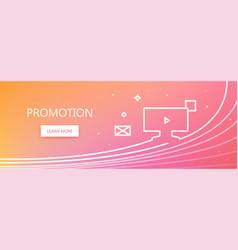Promotion web banner vector