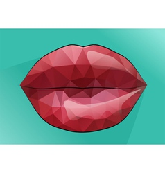 Red lips kiss vector