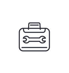 repair tools icon on white linear vector image
