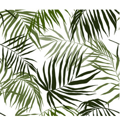 Seamless pattern palm leaves hand drawn vector