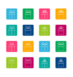 Set of gift boxes icons vector