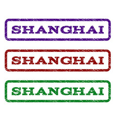 Shanghai watermark stamp vector