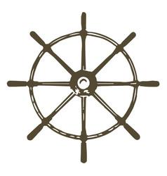Ships wheel vector