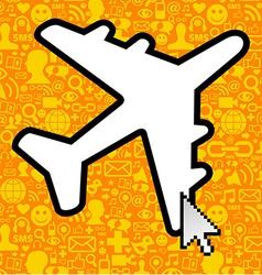 Social media travel business vector image