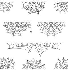 Spider web for halloween of halloween cobweb vector