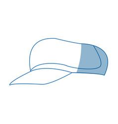sport cap fashion trendy accessory icon vector image