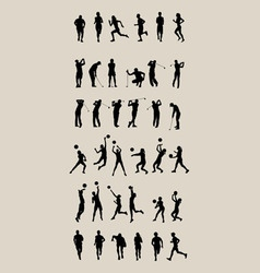 Sport Set Silhouettes vector image