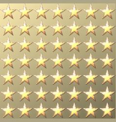 stars retro light gold background vector image