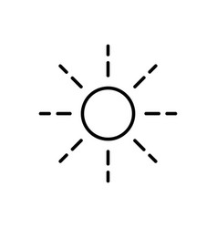 sun outline icon vector image