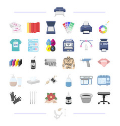 technology textiles information and other web vector image