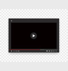 template web video player internet stream vector image