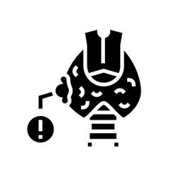 Thyroid cancer glyph icon vector