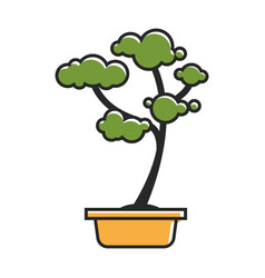 Traditional bonsai tree vector