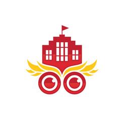 university logo icon vector image