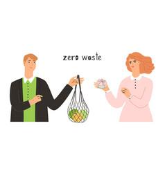 use zero waste goods vector image
