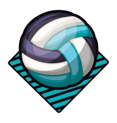 volleyball tournament emblem with ball vector image