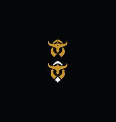 warrior helmet logo icon vector image
