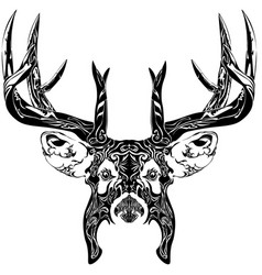 abstract deer with horns vector image