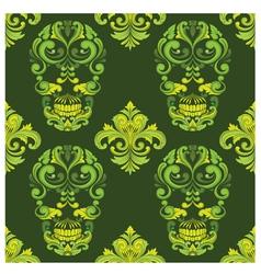 Classic Skull Ornamental Pattern vector image