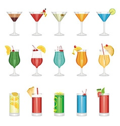 cocktail set vector image