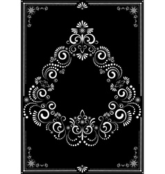 Decorative border ornament vector image