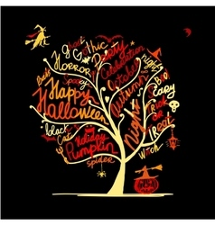 Halloween tree for your design vector image