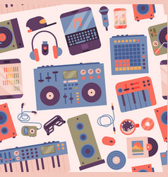 hip hop or dj accessory musician instruments vector image