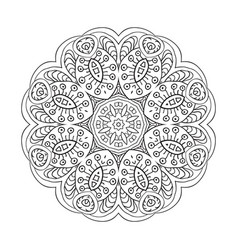 mandala flower doodle drawing round ornament vector image vector image