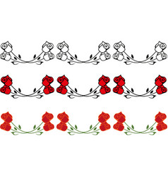 roses border vector image