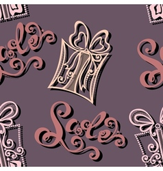 Seamless Ornate Pattern with Gifts vector image vector image