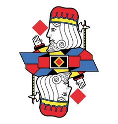 Stylized King of Diamonds no card vector image