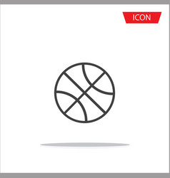 basketball icon outline basketball icon vector image