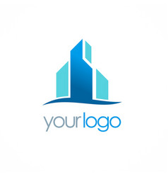 business building logo vector image