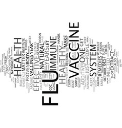 Flu vaccine hysteria text background word cloud vector