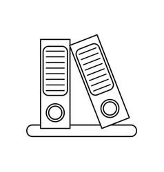 folder document archive folio office outline vector image