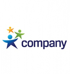 kids charity logo vector image vector image
