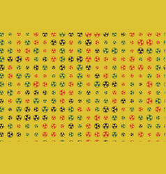 pattern 60s seamless background with vector image vector image