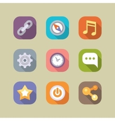 Social media icons set Mobile apps vector image