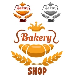 Bakery shop badge or label vector image
