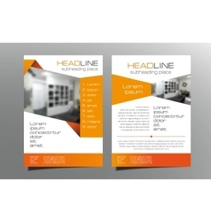 Grey blue brochure flyer template design vector image vector image