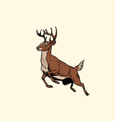 running deer jump vector image